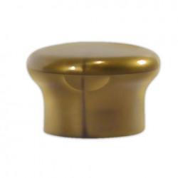 Plastic cap, 24/410, flip top, gold, orifice 5mm - MUSHROOM