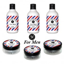 "Kit "" For Men "" Barber Complet malette 6 produits"